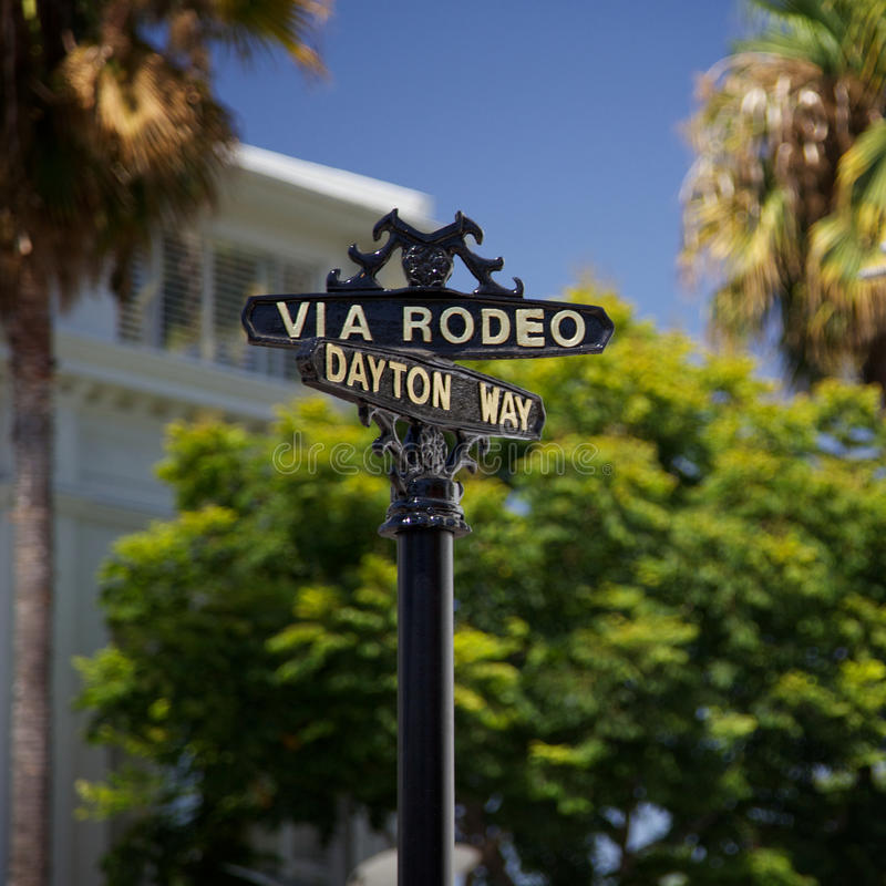 Rodeo Drive Sign royalty free stock photo