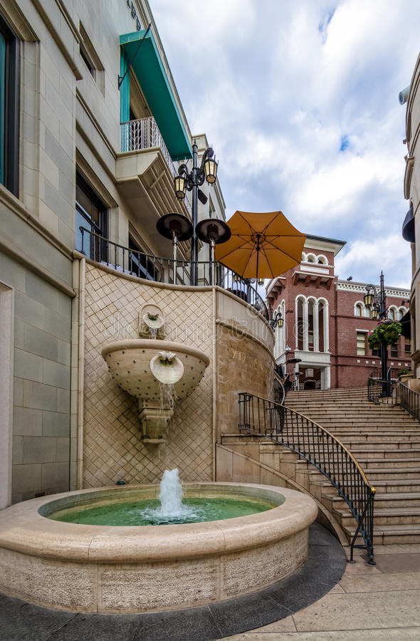 Rodeo Drive Street fountain in Beverly Hills - Los Angeles, California, USA. Rodeo Drive Street fountain in Beverly Hills in Los Angeles, California, USA stock images