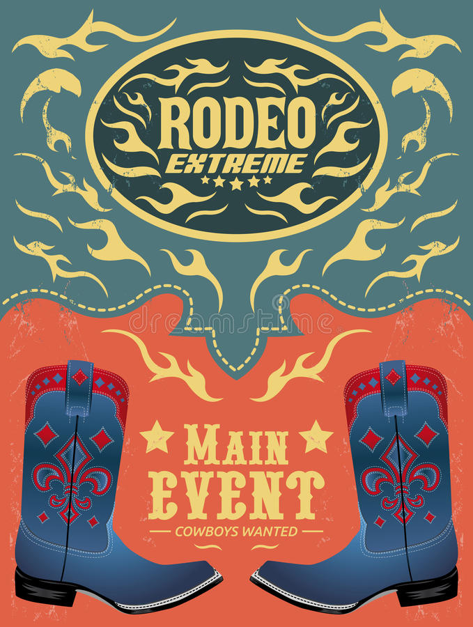 Download Rodeo Extreme - Cowboy Event Poster Stock Vector - Illustration of design, backdrop: 39500984