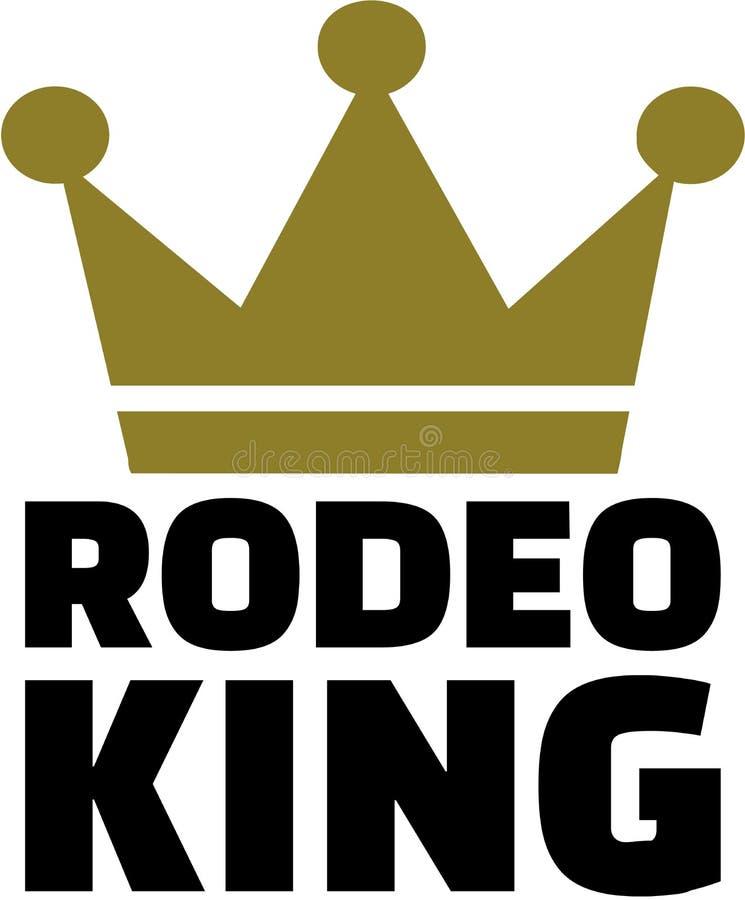 Rodeo królewiątko z koroną ilustracja wektor
