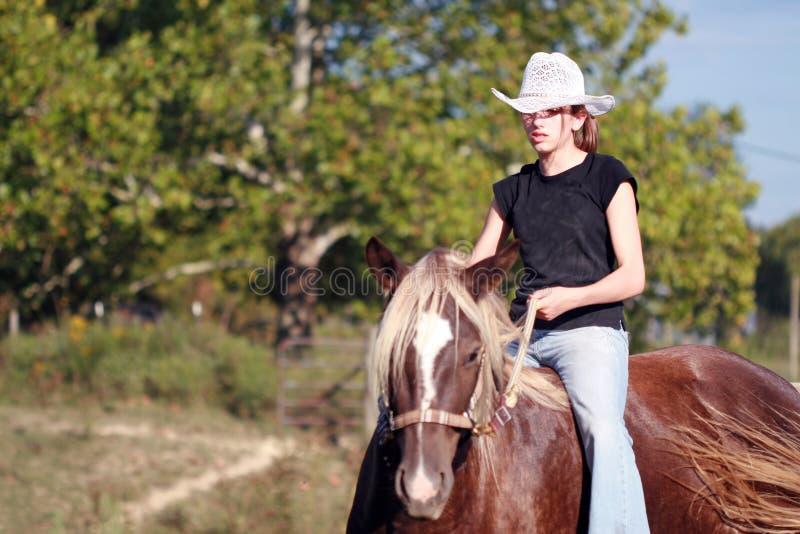 Rodeo-Mädchen stockbild