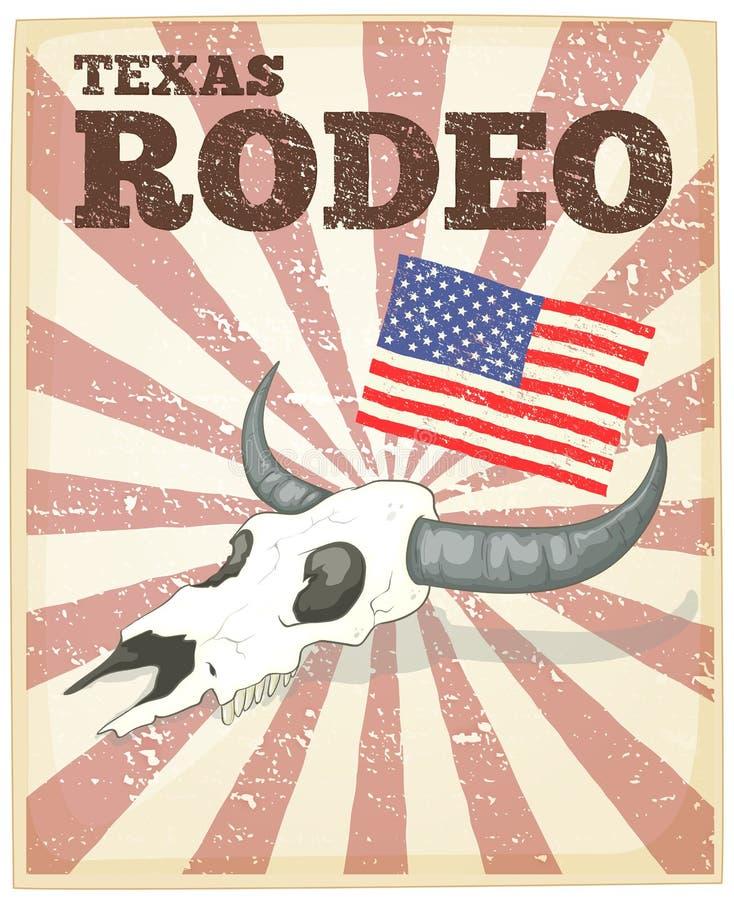 Rodeo plakat ilustracji