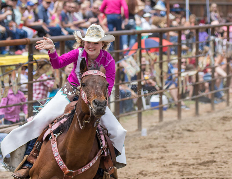 Rodeo Queen Entrance royalty free stock images