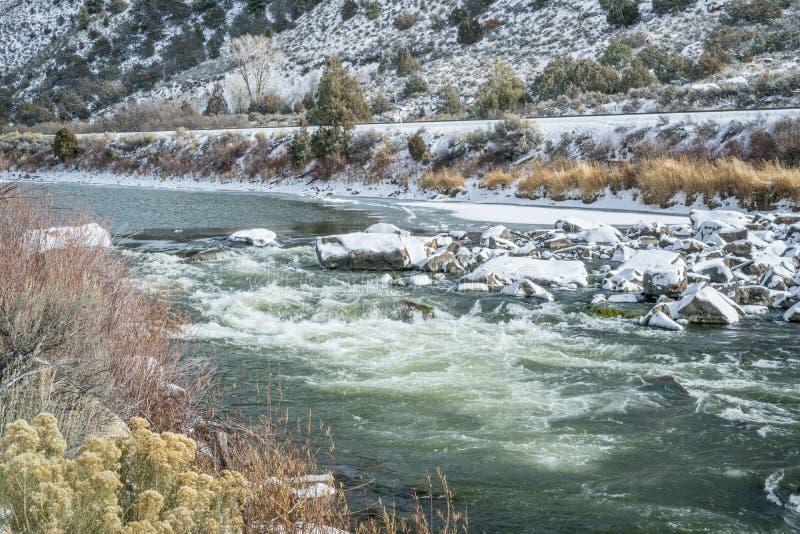 Rapid Winter River Stock Photo Image Of Cold Scenics