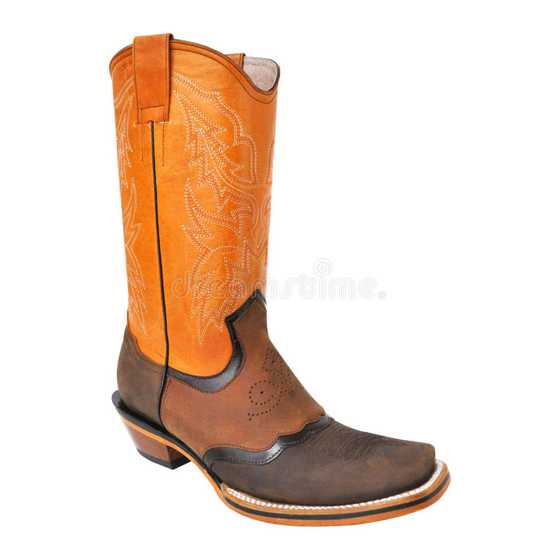 749f3ef9906 Black Cowboy Boot For Men Isolated On White Background Stock Photo ...