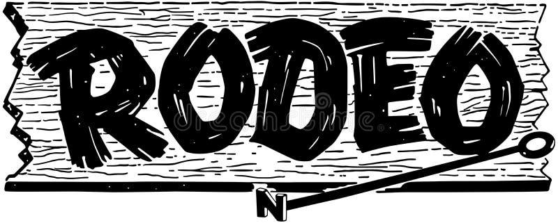 Rodeo-Zeichen stock abbildung