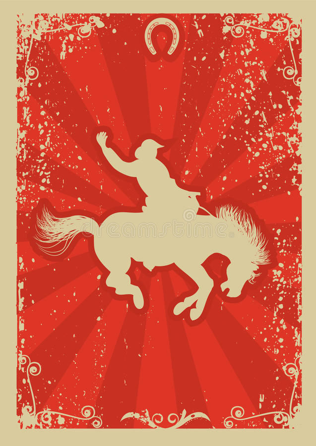 Rodeocowboy. lizenzfreie abbildung