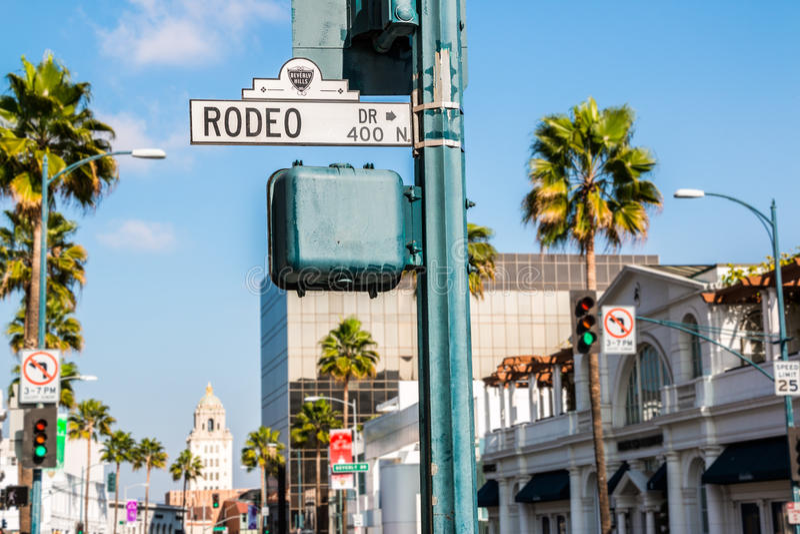 Rodeodrev Beverly Hills arkivbild