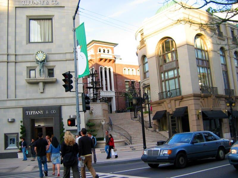 Rodeodrev, Beverly Hills, Kalifornien USA royaltyfria bilder