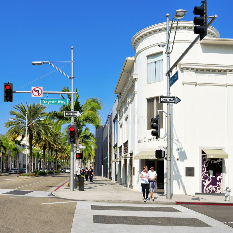 Rodeodrev, Beverly Hills, United States royaltyfri bild