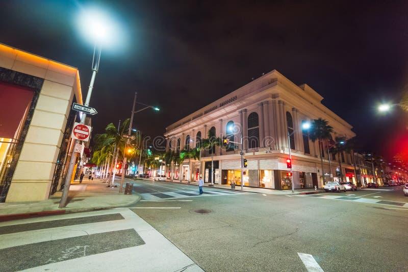 Rodeodrev- och Brighton Way tvärgata i Beverly Hills royaltyfri foto