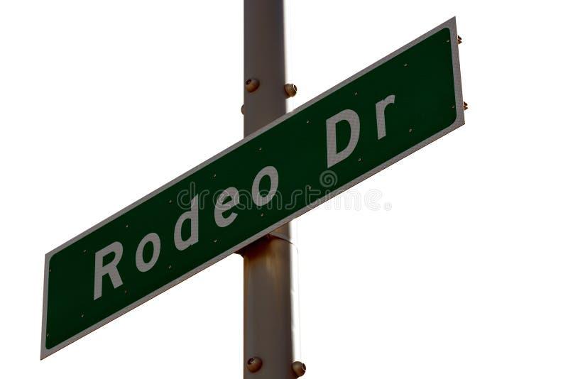 Rodeodrev undertecknar in Beverly Hills California arkivbild