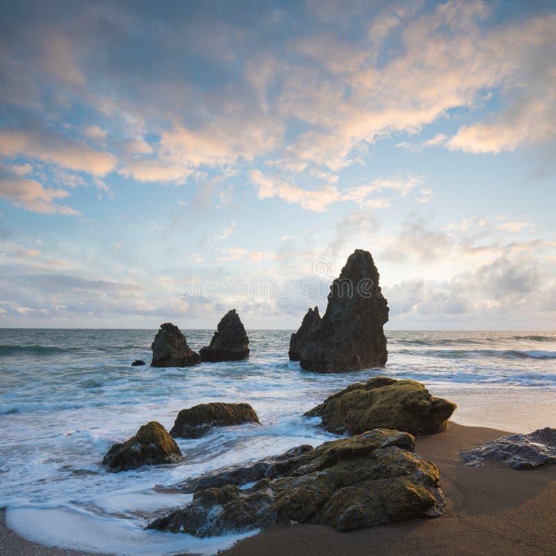 Rodeostrand bei Marin Headlands, schöner Tag San Franciscos, Kalifornien, USA stockbild