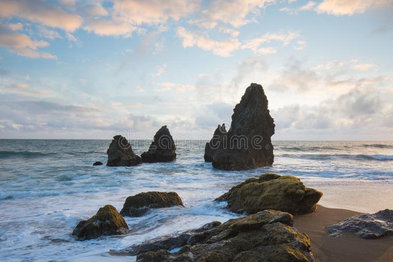 Rodeostrand in Marin Headlands, de mooie dag van San Francisco, Californië, de V.S. stock afbeelding