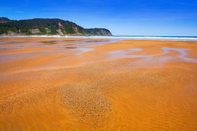 Rodiles plaża w Asturias Spain zdjęcia stock