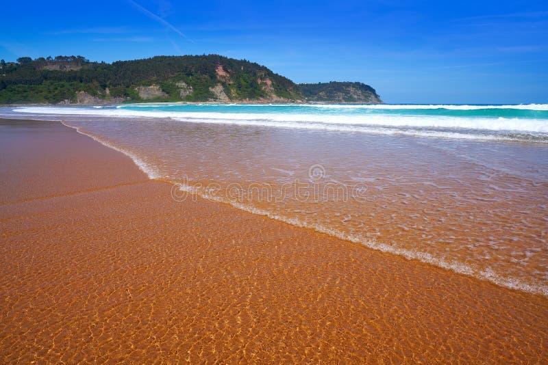Rodiles plaża w Asturias Spain fotografia royalty free
