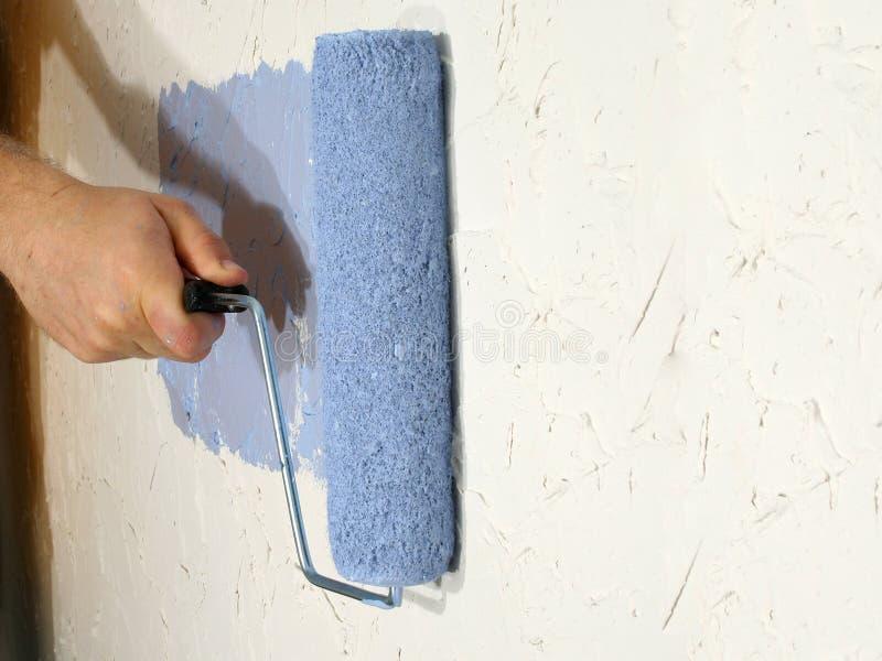 Rodillo azul foto de archivo