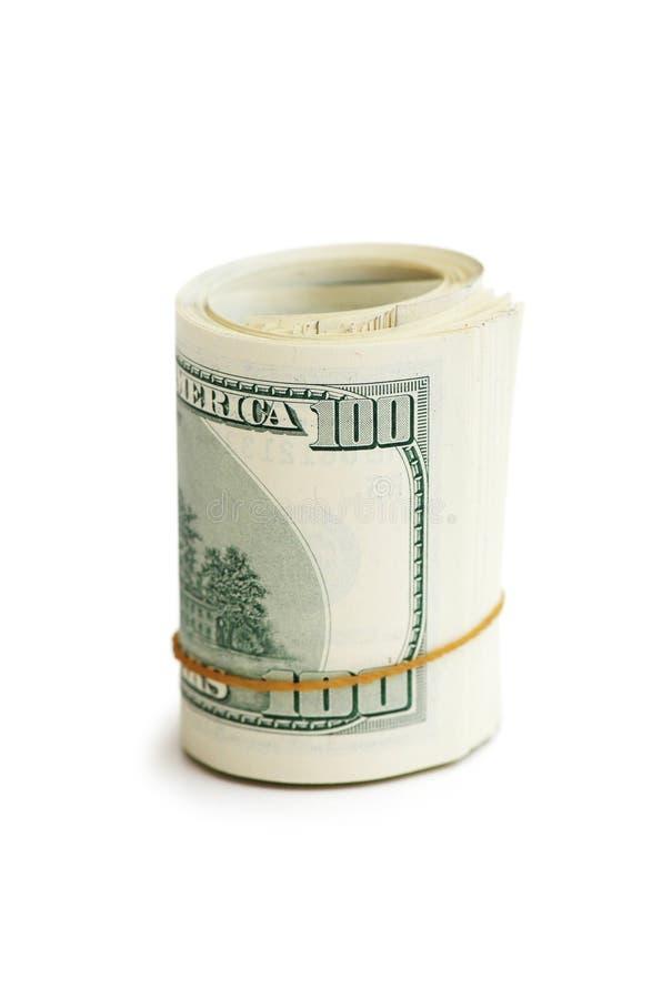 Rodillo de dólares americanos fotografía de archivo libre de regalías