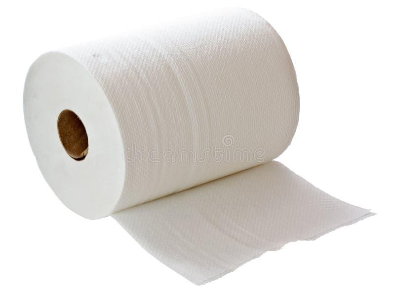 Rodillo de la toalla del Libro Blanco imagen de archivo libre de regalías