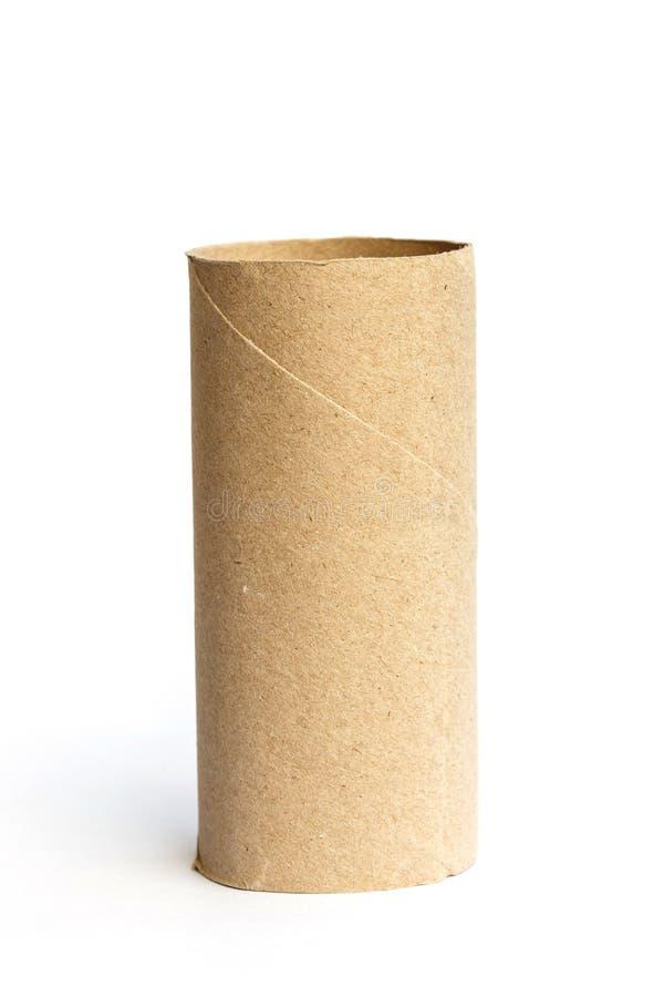 Rodillo de papel aislado en blanco imagen de archivo libre de regalías