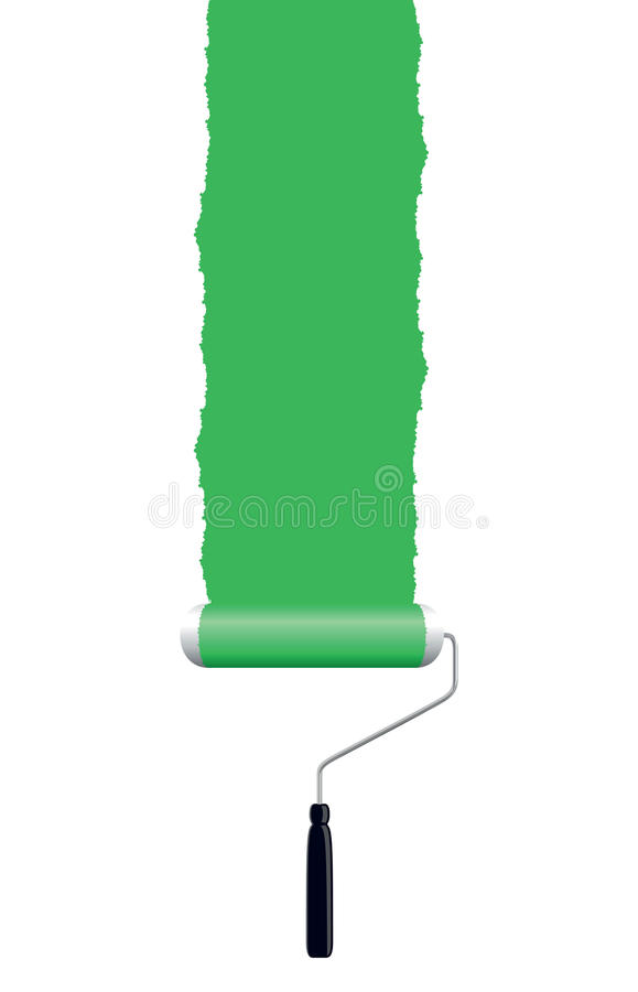 Rodillo de pintura verde libre illustration