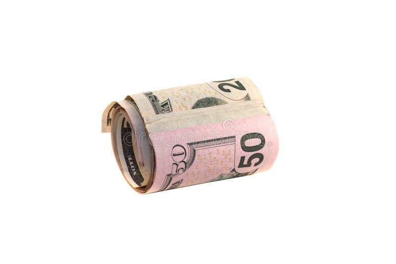 Rodillo del dinero imagenes de archivo