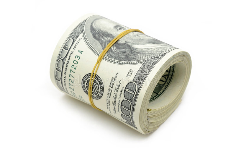 Rodillo del dinero imagen de archivo