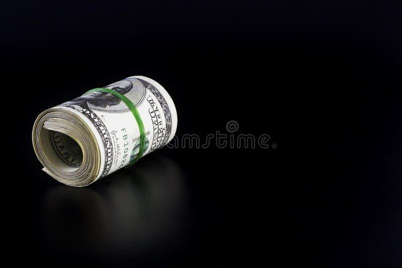 Rodillo del dinero con el espacio en blanco fotografía de archivo