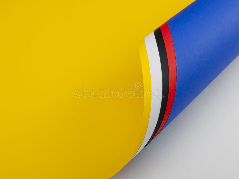 Rodillo del fondo de papel coloreado vivo fotografía de archivo
