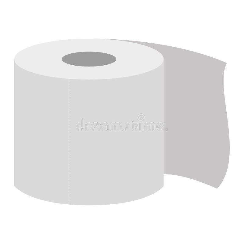 Rodillo del papel higiénico ilustración del vector
