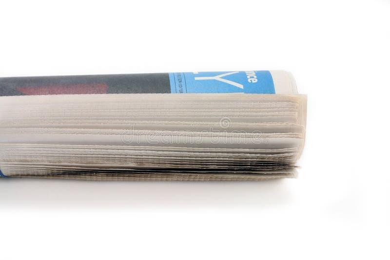 Rodillo del periódico fotografía de archivo libre de regalías