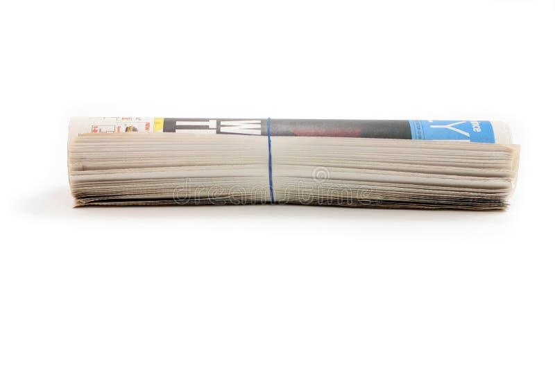 Rodillo del periódico foto de archivo libre de regalías