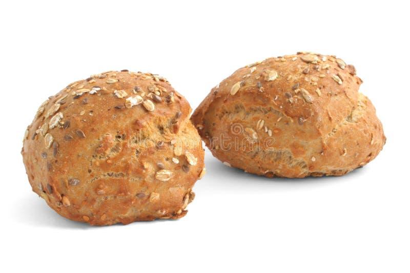 Rodillos de la harina de trigo entero imagenes de archivo