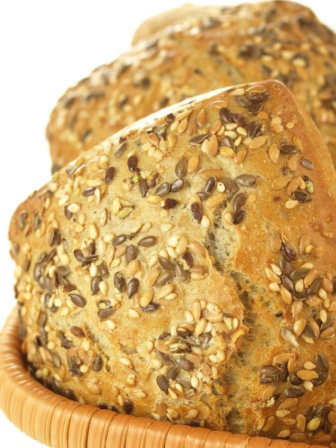 Rodillos de la harina de trigo entero, cierre para arriba fotos de archivo libres de regalías