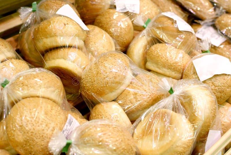 Rodillos de pan envueltos fotografía de archivo libre de regalías