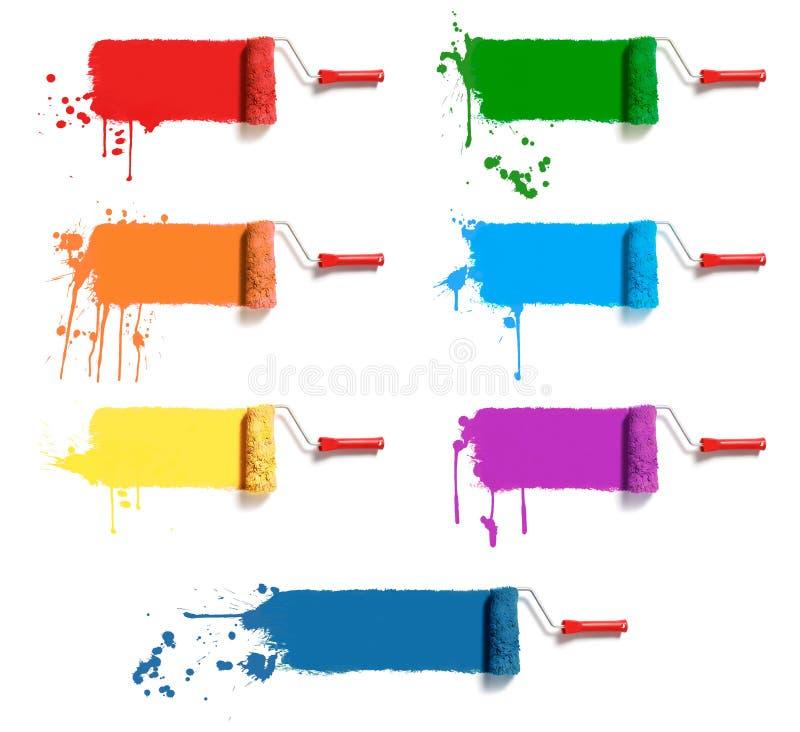 Rodillos del color imagenes de archivo
