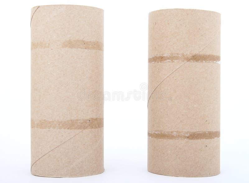 Rodillos del papel higiénico imagen de archivo