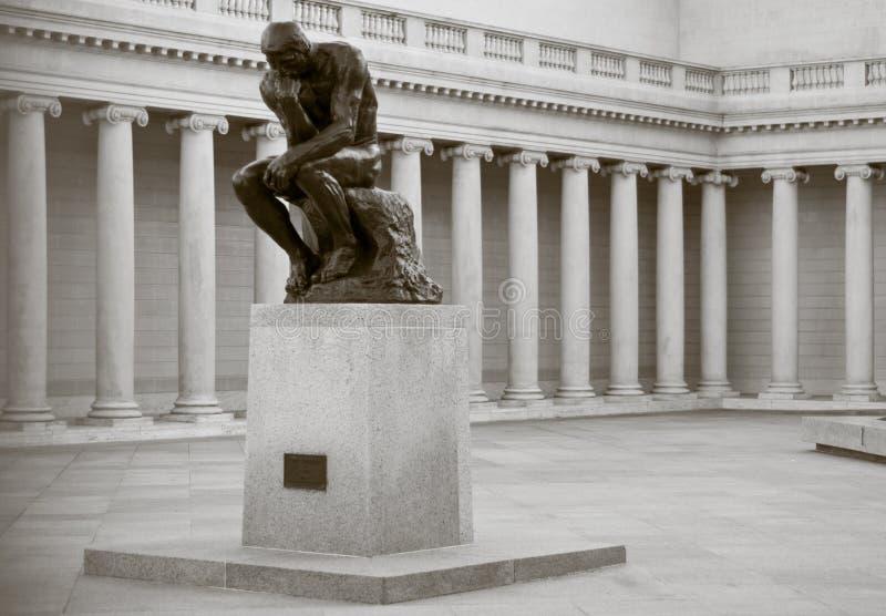 rodin φιλόσοφος στοκ εικόνα
