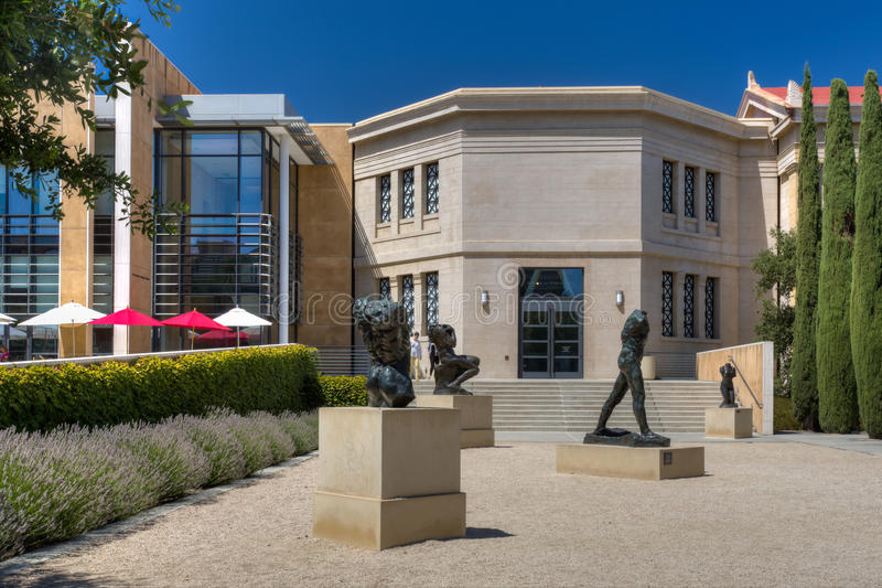 Rodin Bronze Sculptures em Stanford University imagens de stock