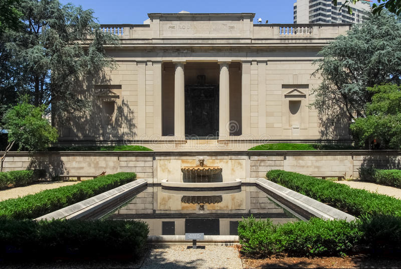 Rodin Museum - Philadelphfia, Pensilvânia imagens de stock