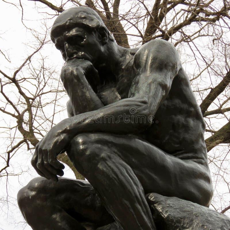 Rodin`s statue of The Thinker, Philadelphia, PA. royalty free stock image