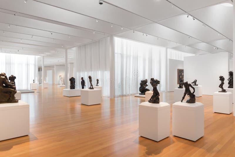Rodin Sculptures em Carolina Museum norte da arte fotografia de stock royalty free