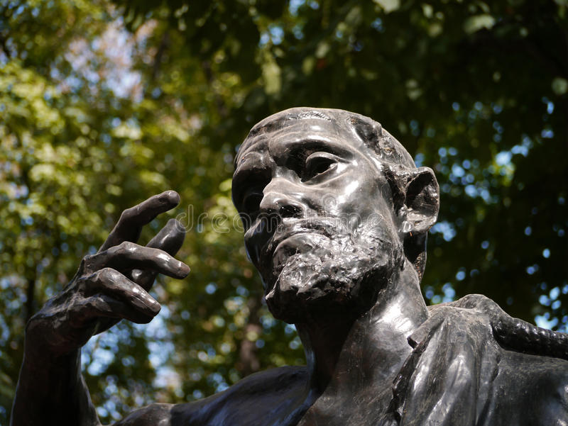 Rodin Statue imagen de archivo