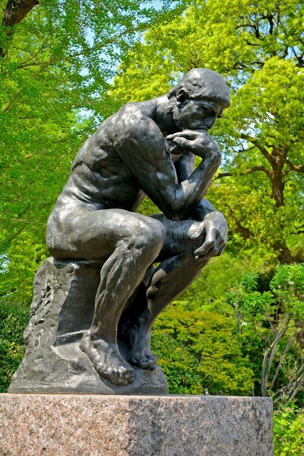 Rodin: The Thinker, Tokyo, Japan stock image
