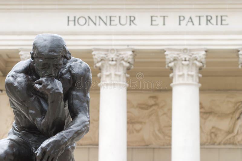 Rodins Denker stockfotografie