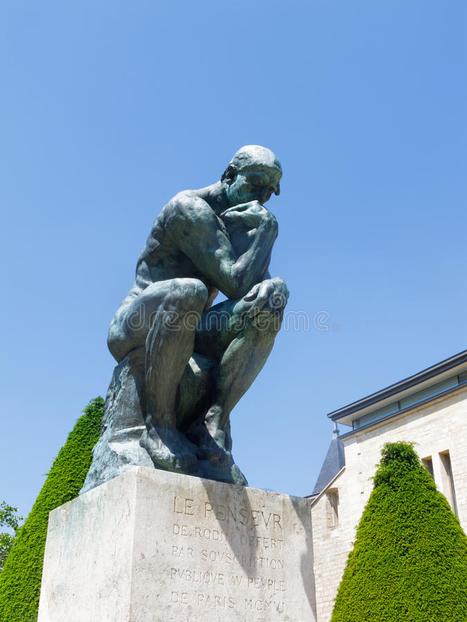 Rodins Denker lizenzfreie stockfotos