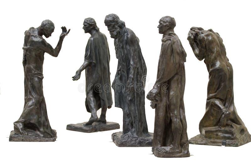 Rodins Statuen stockfotos