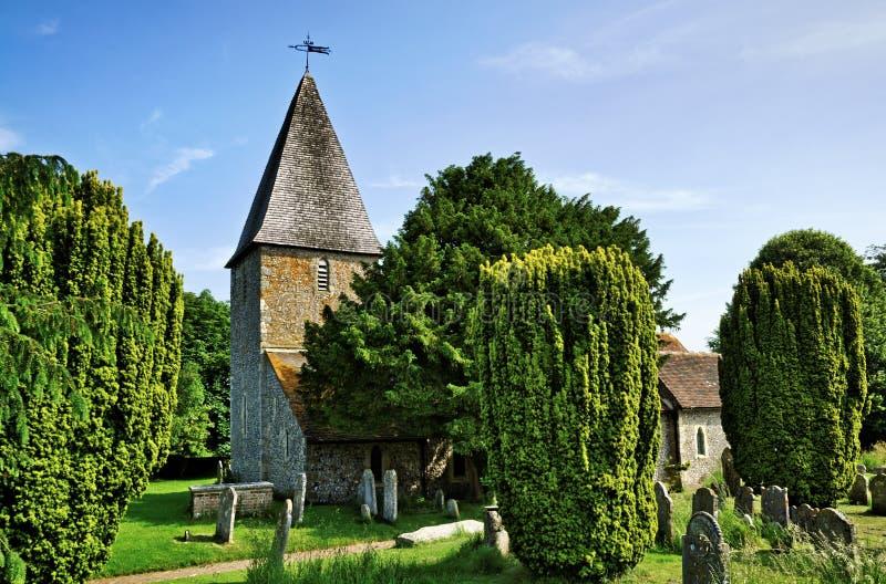Rodmellkerk in Oost-Sussex stock afbeelding