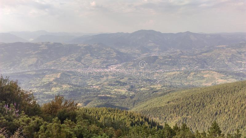 从Rodna山的看法 免版税库存图片