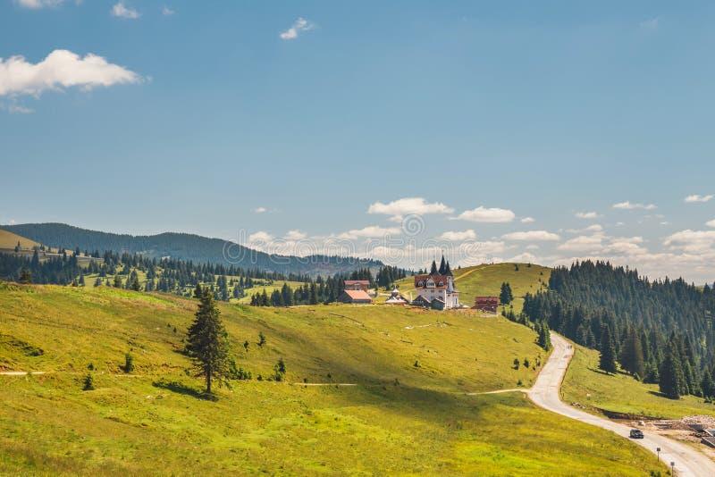 Rodna山风景在东喀尔巴汗,罗马尼亚 库存图片